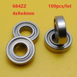 Shield Ball NZ - 100pcs lot 684 ZZ 684Z 684ZZ 4x9x4mm deep groove ball bearings Miniature high-carbon steel bearing shielded 4*9*4mm