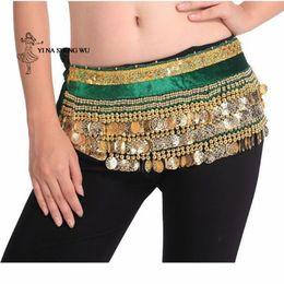 $enCountryForm.capitalKeyWord NZ - Belly Dance Hip Tassels Women Belly Dance Hip Scarf Costume Coin Wrap Belt Dancing Accessories Belt