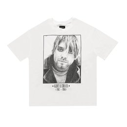 20ss Hip Hop 6. Fear Of God Kurt Cobain Rock Band Weinlese-Foto T Skateboard-T-Shirt Nebel Männer Frauen kurze Hülsen-beiläufiges T-Shirt