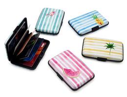 $enCountryForm.capitalKeyWord Australia - Stripe RFID Card Holder 100PCS Business Credit Card Holder High quality Aluminum alloy Colour Printing Card case