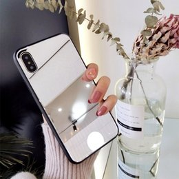 Glasses Case Material Australia - Fashion Cell phone case for iPhone all style mirror glass Anti-fall function PC Material Cell Phone Accessories