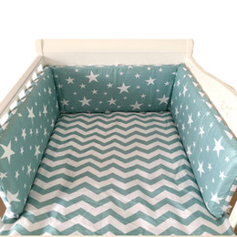 $enCountryForm.capitalKeyWord UK - Nordic Stars Design Baby Bed Thicken Bumpers One-piece Crib Around Cushion Cot Protector Pillows 7 Colors Newborns Room Decor Q190530