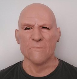 Carnival Costumes for men online shopping - Hot Selling Eoc friendly Realistic Full Head Mask Carnival Costume Theater Scene Prop Adult Cap Old Man Mask Crossdress cosplay mask fancy