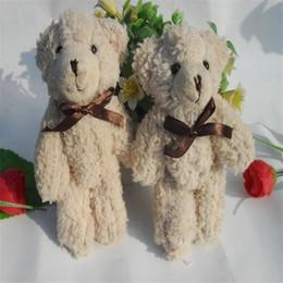 Wedding stuffed animals online shopping - Cute Plush Dolls Teddy Bear Keychains Stuffed Animals Wedding Celebration Wear Resistant cm hy F1
