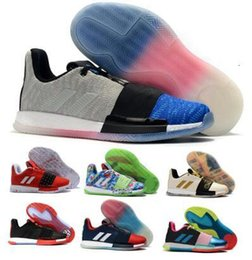 different shoes UK - James Harden Vol 3 Basketball Shoes Mens What The Wanted Coral Different Legend Invader NMD Core Blue 2019 New Low Authentic Trainers Shoes