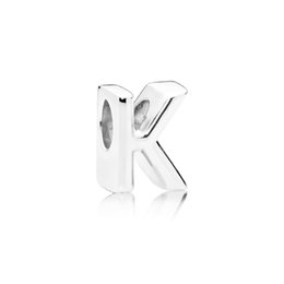 Letter k braceLet online shopping - NEW Sterling Silver Original LETTER K CHARM Beaded Simple Fashion Women s Jewelry Suitable DIY Bracelet Gifts