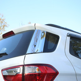 $enCountryForm.capitalKeyWord NZ - 2 Pcs ABS ChromeCar Back Tail Spoilers Rear Door Side Window Decal Cover Trim Sticker for Ford Ecosport 2012 - 2016 Accessories