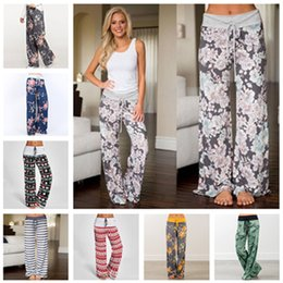 ladies yoga pants wholesale Australia - Yoga Fitness Wide Leg Pant Women Christmas Leopard Sports Pants Harem PantsWide Leg Pants Loose Lady Trousers Loose Long Pants 32 color