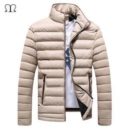 Draped Jacket Australia - Bomber Jackets 2017 Winter Coat Men Thick Jacket Men's Ultralight Jackets Mens Coats Homme Warm Slim Fitted Coat Outwear Parka