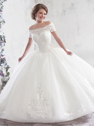 6a58e92ab Sexy noble embroidery online shopping - Noble White Off Shoulder Embroidery  Beads Ball Gown Wedding Dresses