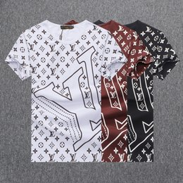 Trends T shirTs online shopping - 2019 new hot summer trend men and women with the full body letter printing couple short sleeved T shirt versatile comfortable round neck