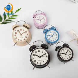 $enCountryForm.capitalKeyWord NZ - Creative 4 Inches Kids Alarm Clock Portable Silent Stainless Metal Round Number Double Bell Desk Table Digital Clock Home Decor