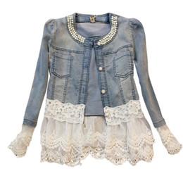 Women\'s Thin Jacket New Women lace Jackets jeans women big jeans jacket long sleeve denim feminine outwear women shelters mujer cardigan