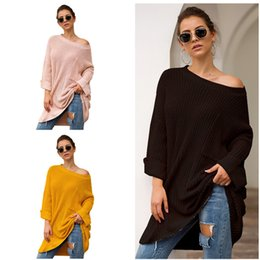 $enCountryForm.capitalKeyWord Australia - Autumn Winter Knitted Sweater Women Medium Designer Sweatshirt Knitwear Casual Loose Sweaters Pullover Long Sleeve Knit Sweater Top Clothing