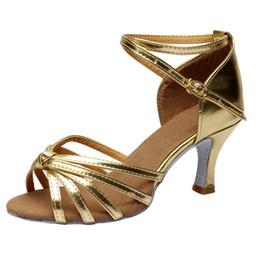 dee0231b Salón de baile para niñas Zapatos de baile latino Salsa para mujeres Tango  Partido latino Tacones Sandalias Zapatos de baile para dama Fiesta Mujer ...