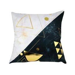 $enCountryForm.capitalKeyWord Australia - LanLan Retro Style Marbling Hot Stamping Throw Pillow Cover Without Filling