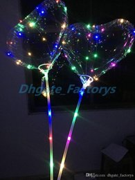 $enCountryForm.capitalKeyWord NZ - Love LED Balloon Lighting Transparent Bobo Ball Love Heart Shaped Line String Balloons With Stick Wedding Birthday Party Decoration hot 100p