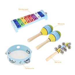 $enCountryForm.capitalKeyWord Australia - 4pcs Musical Instruments Percussion Toy set for kids, the package including tambourine, bell stick, maracas & glockenspiel.