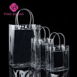 Rosa sugao Einkaufstaschen Qualität transparente PVC-Geschenkhandtasche wasserdichte Pakethandtasche kann Firmenzeichengewohnheit und viele Größengroßverkauf drucken im Angebot