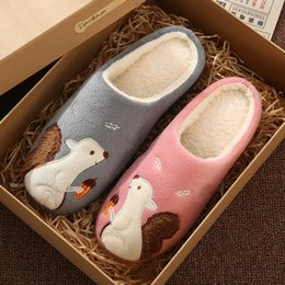 $enCountryForm.capitalKeyWord NZ - Cute Squirrel Women Winter Home Slippers Cartoon Animal Soft Winter Warm House Shoes Men Women Girl Boys Indoor Bedroom Slippers