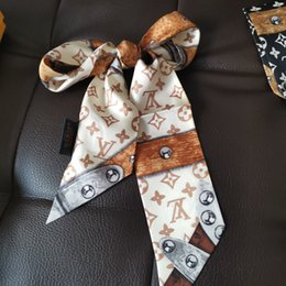 Bands Handbags Australia - Luxury Designer Silk HANDBAG Bag scarf Headbands New Brand women silk scraves 100% Top grade silk bag scarf hair Bands 8x120cm
