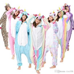 unicorn costume for men NZ - Wholesale Animal Stitch Unicorn Panda Bear Koala Pikachu Adult Unisex Cosplay Costume Pajamas Sleepwear For Men Women T2I133