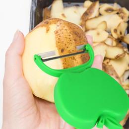 Kitchen Apple Peeler Australia - Stainless Steel Apple Shape Paring Knife Melon Plane Grater Folding Peeler plane Folding peeler kitchen gadgets