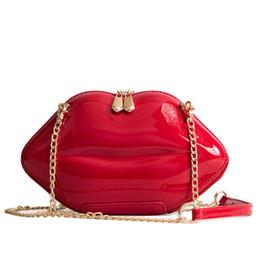 1a3eccf4f8701 2018 Women Red Lips Clutch Bag High Quality Ladies Pu Leather Chain  Shoulder Bag Bolsa Evening Lips Shape Purse
