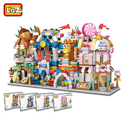 building blocks toy store Australia - LOZ Mini City Street Model Building Block Gaming Room Candy Shop Toy Store Architecture for Children DIY 1641-1644