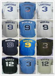 $enCountryForm.capitalKeyWord NZ - Mens 12 Wade Boggs 3 Evan Longoria Baseball Jersey 9 Wil Myers Custom any number name Stitched Cool Base Baseball uniform