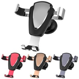 Mount claMp holder online shopping - Cell Phone Holder for Car Auto Clamping Air Vent Car Mount Holder Cradle for iPhone Samsung Huawei Smartphones