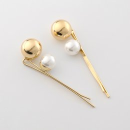 $enCountryForm.capitalKeyWord Australia - 1Pcs Ins Popular New Vintage Metal Imitiation Pearl Hairpins Barrettes Women Korea Metal Ball Hair Clips Simple Hair Accessories
