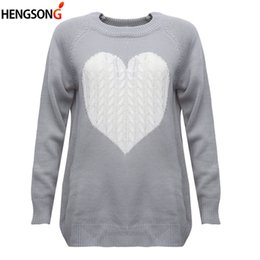 women s sweater hearts NZ - Spring Autumn Sweater Jumper New Fashion Women Sweater Female Reversible Hollow Out Knitted Pullovers Heart Pattern