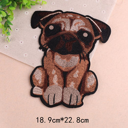 Animal Patches For Clothes Australia - Large Dog Embroidered Patches Animal Sew on Applique Mend DIY Clothing Strips Cute Decoration for Children Shirts Jackets Coats Sweater