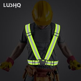 $enCountryForm.capitalKeyWord NZ - reflective jacket motorcycle reflective vest neon belt Night safety protection Man Women Work Clothes for Running Cycling Sports