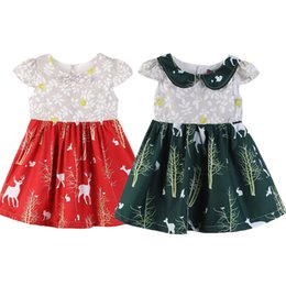 f23170e2ed5 New Christmas Dress Snowflake Deer Cute Girl Dress fashion short sleeve  cartoon baby girls princess dress