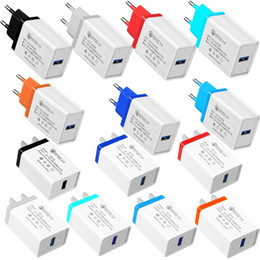 12v 5v 2a power adapter online shopping - Quick charger QC3 EU US Wall charger Power Adapter Fast Speed Charging V A V A V A Adaptor for iphone x samsung pc mp3