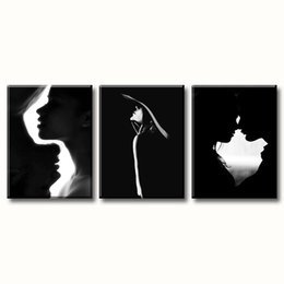 stretched canvas art prints NZ - Couple Canvas Wall Art Black and White Modern Decoration Living Room Bedroom Romance Artwork Prints on Canvas Stretched and Framed Ready to