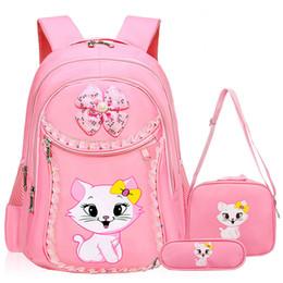 205dcc42f2 Sacchetti di scuola della ragazza del gatto della moda dolce modello del  fumetto Zaino per bambini Zaino della scuola dei bambini Ragazza Satchel  Bag ...