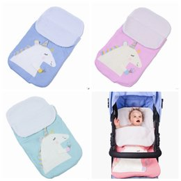 winter sack baby UK - Baby Strollers Sleeping Bag Unicorn Newborn Sleeping Bags Thicken Baby Sleep Sacks Nursery Blanket Winter Bedding Supplies 4 Colors YW1611