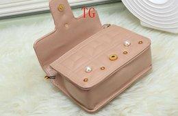 Lovely Chains Australia - factory brand handbag lovely Rhinestone chain bag elegant woman bee pearl decorative leather shoulder bag women bag small fresh pearl spring