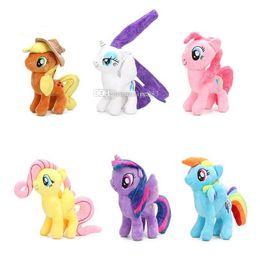 Chinese  Pony Toys New Friendship is Magic Unicorn Doll Princess Rainbow Dash Pinkie Pie Fluttershy Pony Plush Stuffed Dolls lol manufacturers