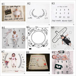 Printed backdroPs online shopping - Baby Photo Blankets Toddle Milestone Blankets Photography Backdrops Prop Letter Flower Print Blanket Newborn Wrap Swaddling Styles YL389