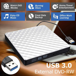 $enCountryForm.capitalKeyWord Australia - LEORY New Style White External USB3.0 DVD RW CD Writer Slim Drive Burner Reader Player Tray Type For PC Laptop