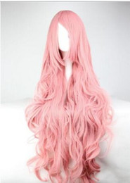 vocaloid christmas cosplay Australia - FREE SHIPPIN + + Christmas pop 85cm Long Pink Curly Vocaloid Megurine Luka Cosplay Party Full Wig