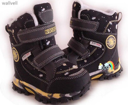 russian snow boots 2019 - Wallvell Export To Russian Boys And Girls Snow Boots Really Wool Inside Children Snow Boots Warm Waterproof Non-slip Cot