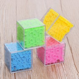 magic 3d puzzle ball Canada - Plastic Magical 3d Maze Magic Cube Labyrinth Rolling Toys For Kids Children Puzzle Maze Ball Game KIds Educational Toy