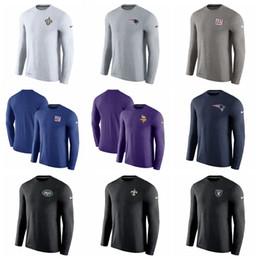 ac56b57d0e931 Mens 2019 Designer T Shirts Vikings Patriots Saints Giants Jets Raiders  Long Sleeve Performance T-Shirt Team   Brand LOGO 100% COTTON
