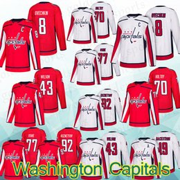 eefe3b7c4 Washington Capitals Jersey 8 Alex Ovechkin 92 Evgeny Kuznetsov 43 Tom92 Evgeny  Kuznetsov 19 Nicklas shirt Long sleeves top quality