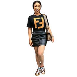 Trendy Tees women online shopping - Women Fashion T shirt F Letter Print T Shirt Summer Short Sleeve T shirts Cotton Pullover T shirts Trendy Female Tees Top Clothing A3146